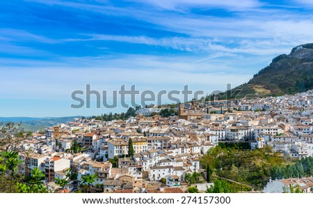 View over Yedra Castle, Cazorla Town, Jaen Province, Andalusia, Spain
