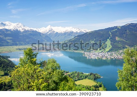 View over Zell am See in Summer, Austria