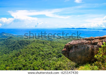 View point at Dragon Crest mountain / Krabi /Thailand