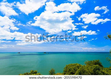 View point from Khao Tao , Hua Hin Attractions Prachuap khiri kh - stock photo