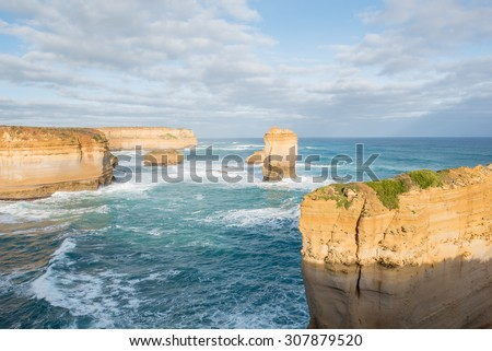 View point, Great Ocean Road Tour, Port Campbell National Park, Victoria, Australia - stock photo