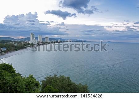 view point hua hin beach - stock photo
