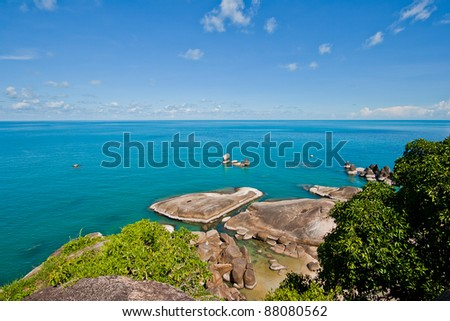 View point of Island for Traveler in Koh Samui Thailand