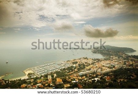 View port of Nice, France - stock photo