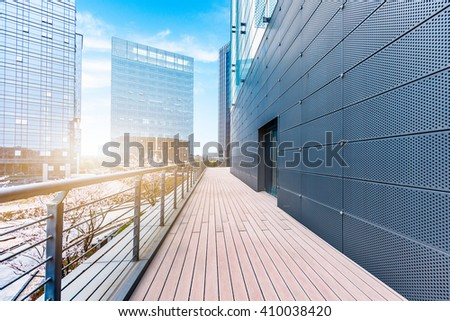 view shot of modern building  - stock photo
