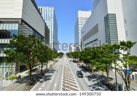 view tall buildings in Yokohama, Japan - stock photo