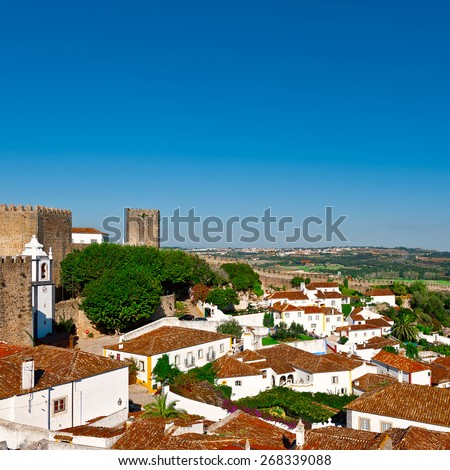 View to Historic Center City of Obidos, Portugal