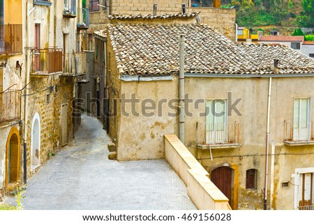 View to Historic Center City of Piazza Armerina in Sicily