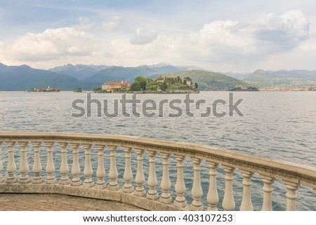 view to Isola Bella from Stresa, Lago Maggiore in Northern Italy