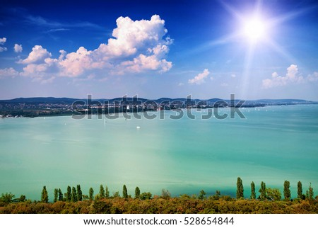 View to Lake Balaton , Hungary