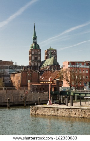 View to Stralsund (Germany).