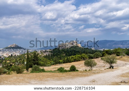 View to the Acropolis, Athens, Greece