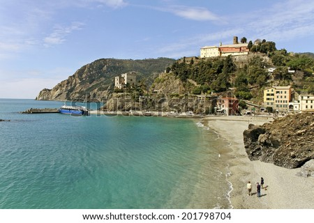 View to the Cinque terre, Italy.