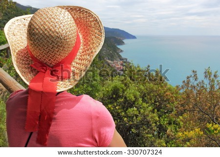 View to Vernazza - stock photo