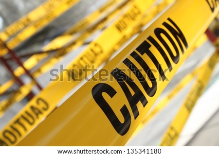 View with Caution - stock photo