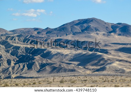 Viewing the Sierra Nevada desert  Mountains