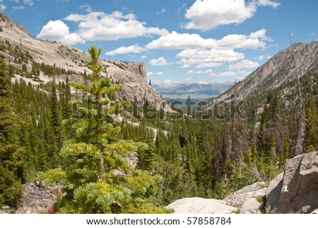 Viewpoint on Alice Lake Hike - stock photo
