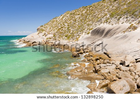 Views along the South Australian coastline on the Yorke Peninsula - stock photo