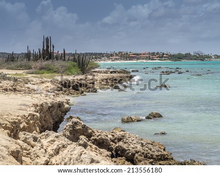 Views around Aruba a small caribbean Island in the Netherland Antilles