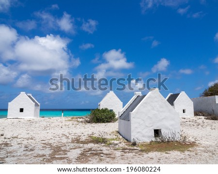 Views around Bonaire a Caribbean Island - stock photo