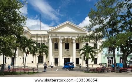 Views around Santa Clara on the Caribbean Island of Cuba - stock photo