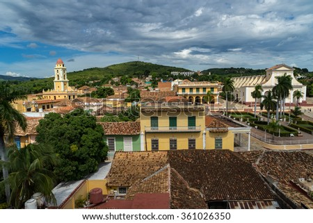 Views around the historic town of Trinidad in Caribbean Island of Cuba