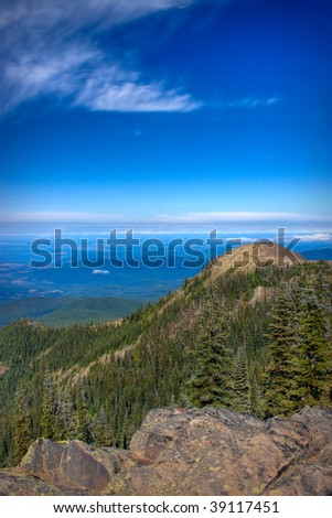 Views from the Deer Park area of Olympic National Park - stock photo