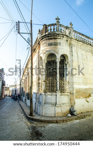 views from the streets in cuba  - stock photo