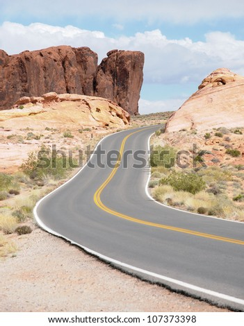 Views from the Valley of Fire in Nevada / Highway Ribbons