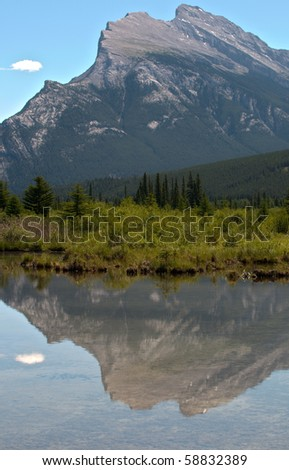 Views from Vermillion Lakes Banff National Park Alberta Canada - stock photo