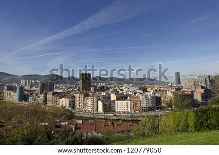 Views of Bilbao City.