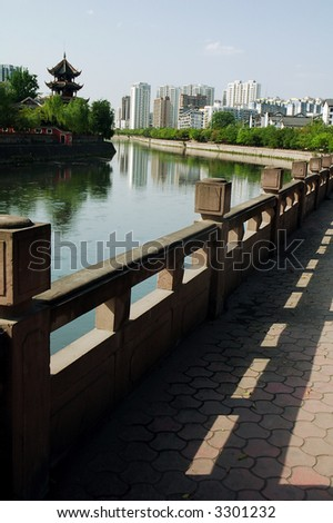 views of Chengdu city,capital of Sichuan,west of China