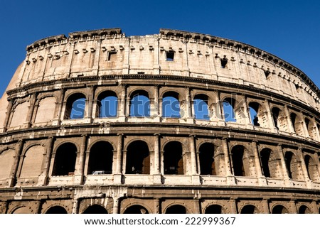 Views of Colosseo, Rome - Italy.