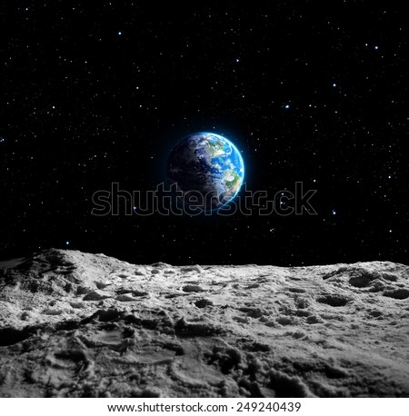 Views Earth Moon Surface Usa Map Stock Photo (Edit Now ...