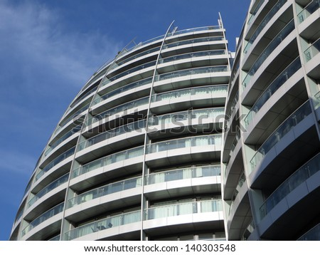 Views of flats in London. - stock photo