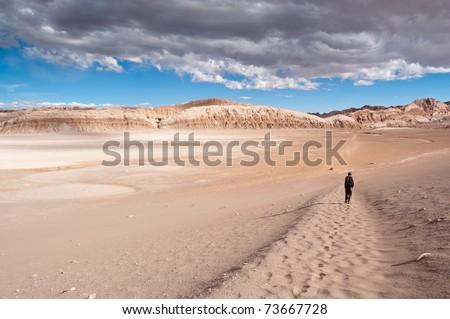 Views of Moon Valley (Atacama, Chile) - stock photo