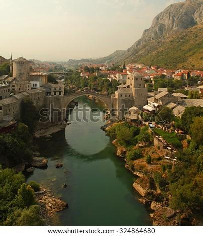 Views of Mostar, Bosnia and Herzegovina - stock photo
