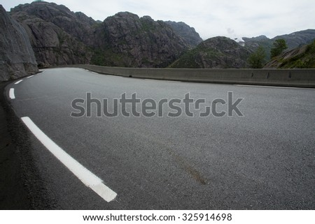 views of National Tourist Route Jaeren, sothern Norway - stock photo