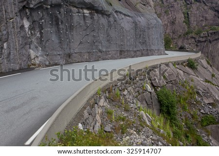 views of National Tourist Route Jaeren, sothern Norway