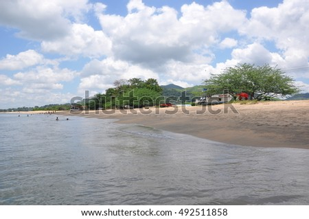 Views of Playa Venao, a fantastic beach just the other side of the Panama Canal from Panama City only about 20 minutes away and the closest beach by far, Panama, Central America