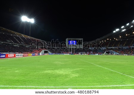 Views of Rajamangala Stadium before match the 2018 World Cup Qualifiers match between Thailand and Japan at Rajamangala  Stadium on September 6, 2016 in Bangkok, Thailand