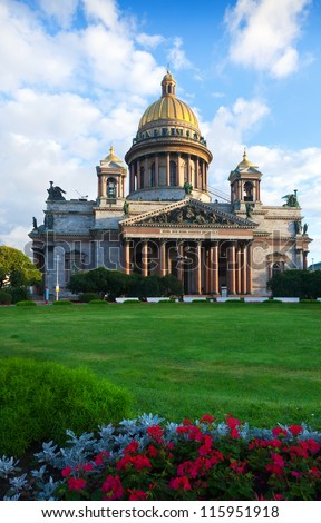 Views of Saint Petersburg. Saint Isaac's Cathedral - stock photo