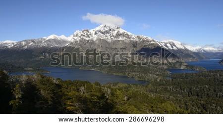 Views of San Carlos de Bariloche, Argentina. - stock photo