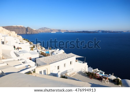 views of the caldera from Oia - Santorini