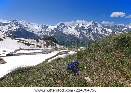 Views of the grossglockner High Alpine Road in Austria Europe - stock photo