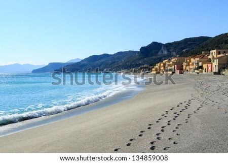 Views of the Italian village of Varigorri - Liguria.