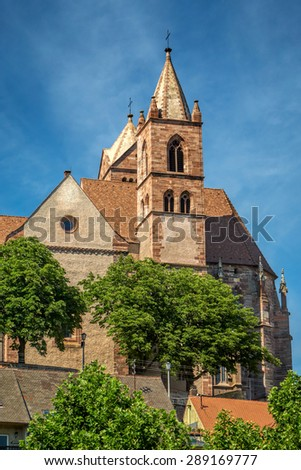 Views of the Stephans Cathedral in Breisach on the Upper Rhine in Baden-W�¼rttemberg