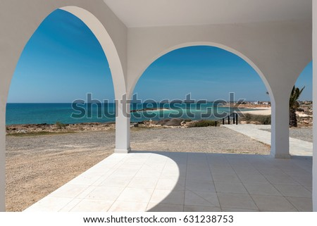 Views on the Mediterranean beach on Cyprus.
