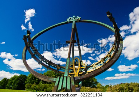vigeland Park in Oslo, Norway - stock photo