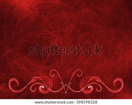 vignette ornament abstract red weave, frame background  gradient colored